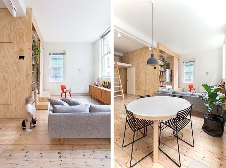 Tiny Apartment - Clare Cousins - Flinders Lane Apartment - Melbourne - Living Room - Humble Homes