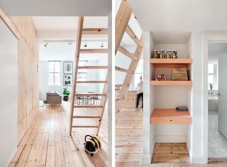 Tiny Apartment - Clare Cousins - Flinders Lane Apartment - Melbourne - Loft Ladders - Humble Homes