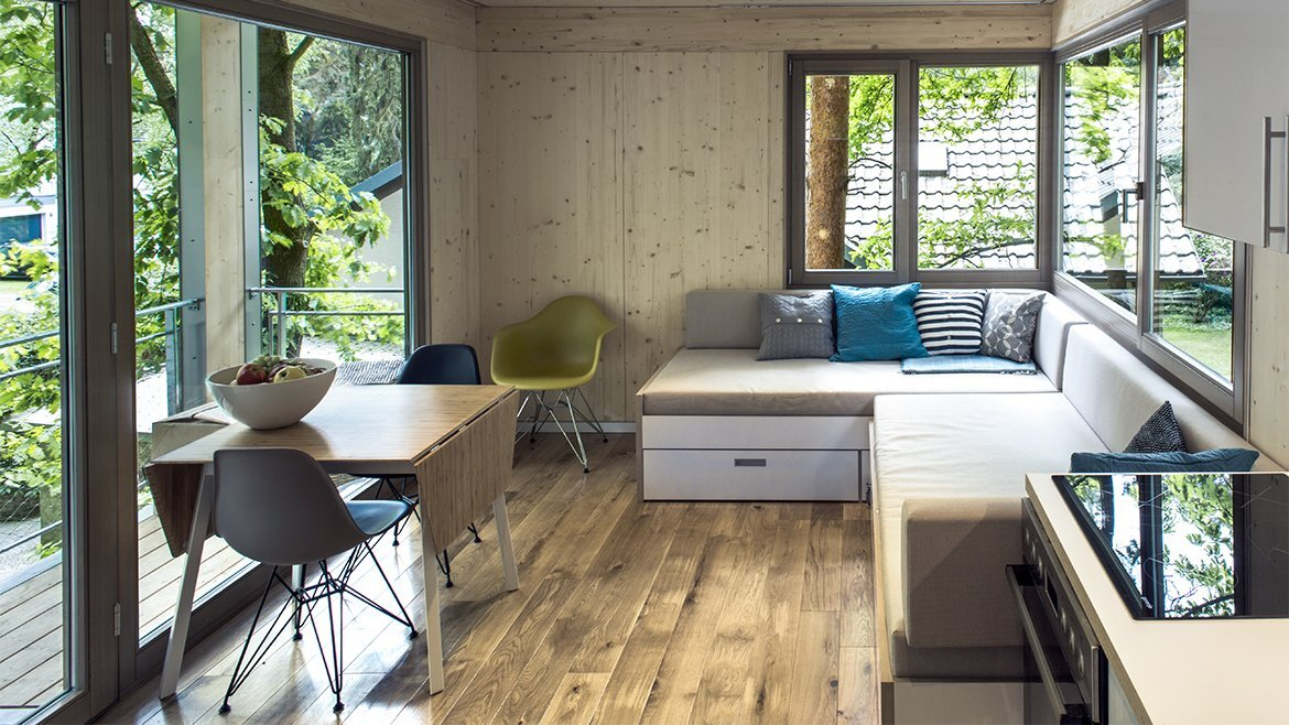 Urban Treehouse Berlin - Baumraum - Germany - Living and Dining Area - Humble Homes