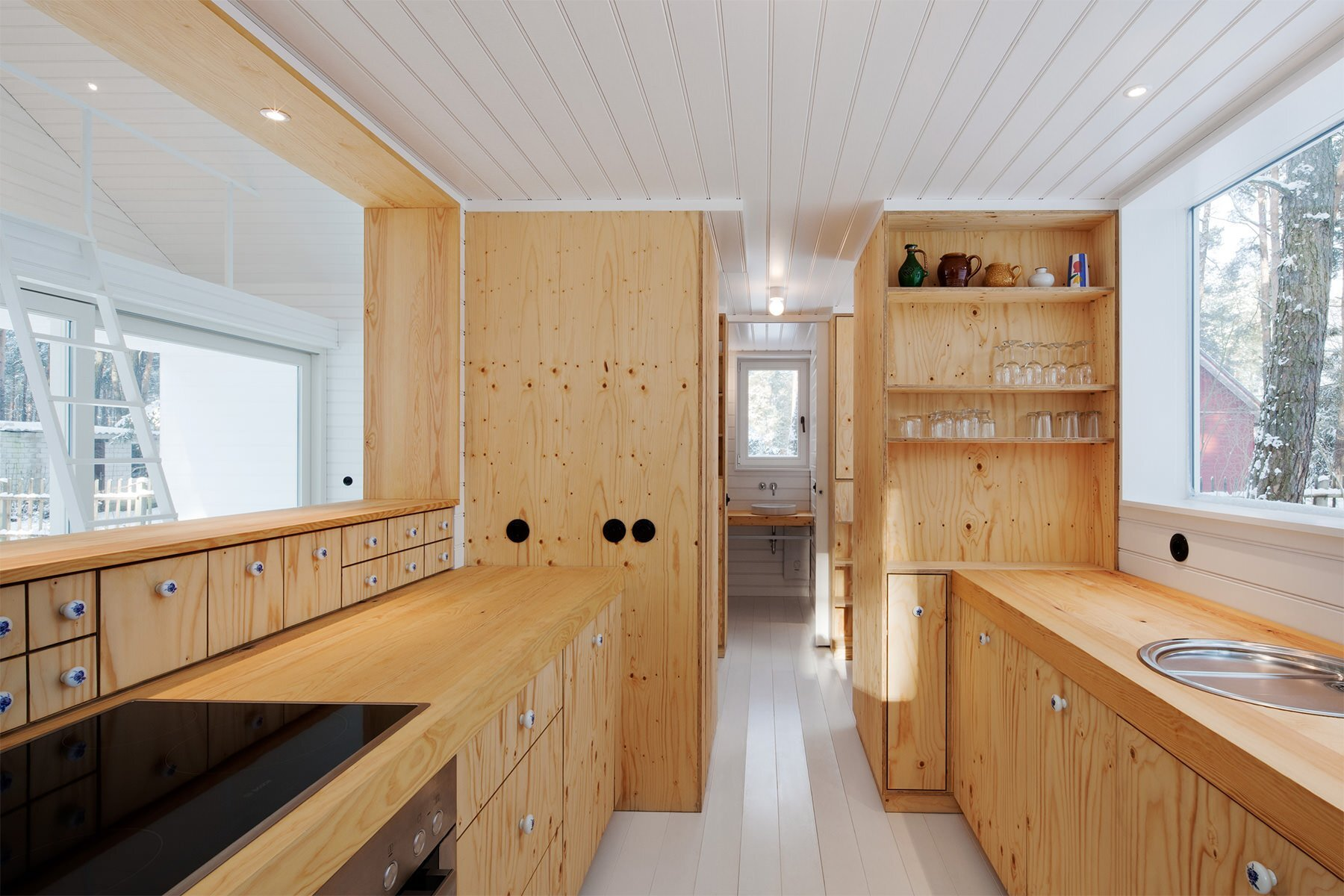 Waldhaus -Small Cabin - Brandenburg - Atelier-ST - Kitchen - Humble Homes