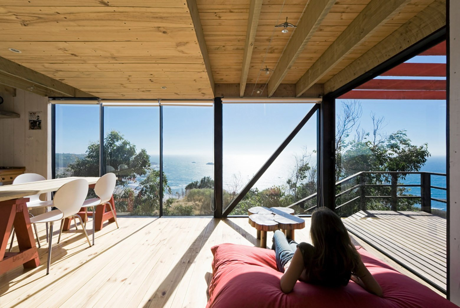 2 Hermanos Cabin - Small Cabin - WMR Arquitectos - Chile - Living Area - Humble Homes