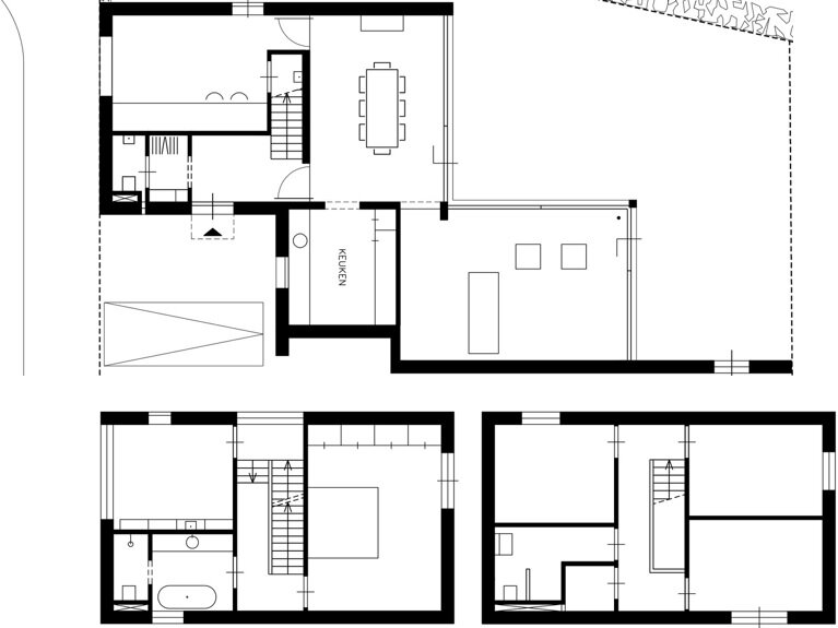 Bedaux-Nagengast Residence - Small House - Bedaux de Brouwer Architects - Floor Plan - Humble Homes