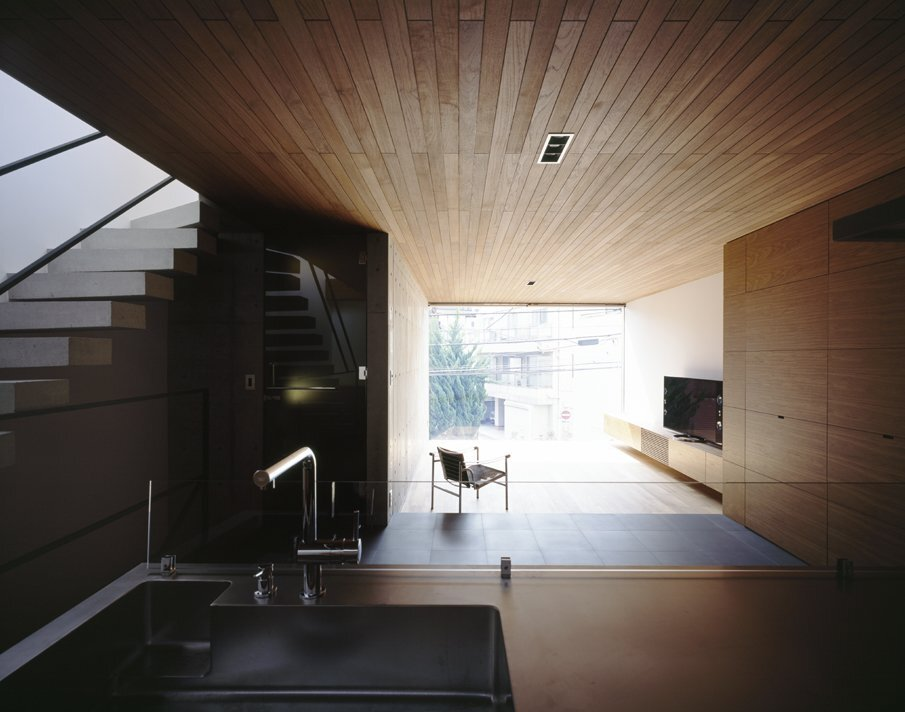 Frame - Small Japanese House - Apollo Architects & Associates - Tokyo - Living Area - Humble Homes