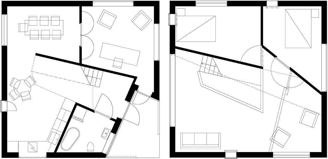 Happy Cheap House - Small House - Tommy Carlsson - Sweden -Stockholm - Floor Plans - Humble Homes