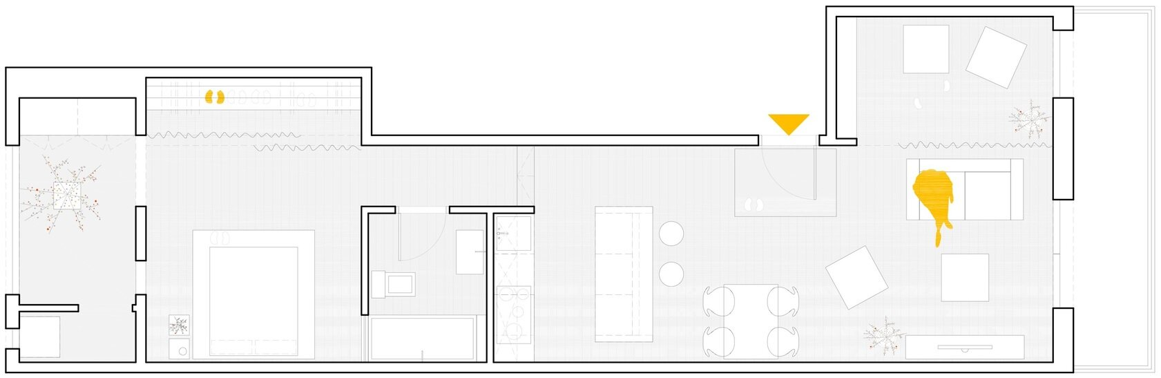 Les Corts - Apartment Renovation - Sergi Pons - Barcelona - Spain - Floor Plan - Humble Homes