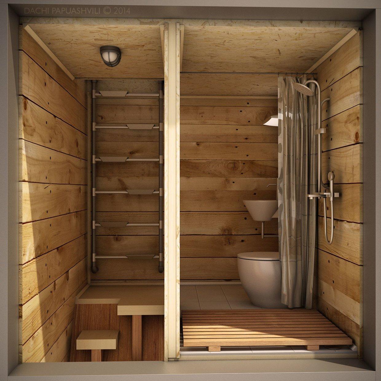 Micro House - Skit 2014 - Dachi Papuashvili - Bathroom - Humble Homes