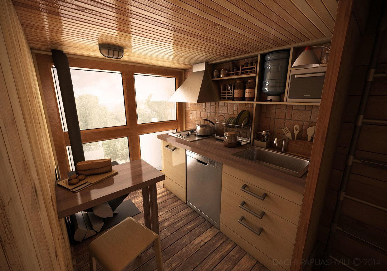 Dachi Papuahvili S Micro Shipping Container Home
