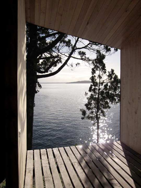 Sauna in Ranco - Small Structure - Panorama - Chile - Decking View - Humble Homes