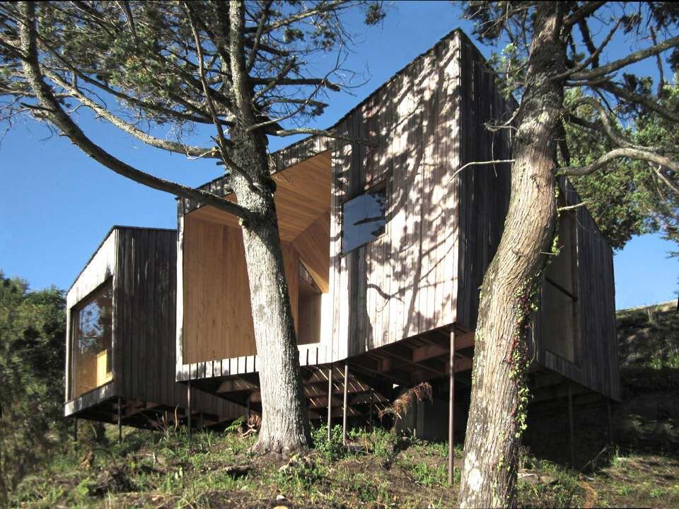 Sauna in Ranco - Small Structure - Panorama - Chile - Exterior - Humble Homes
