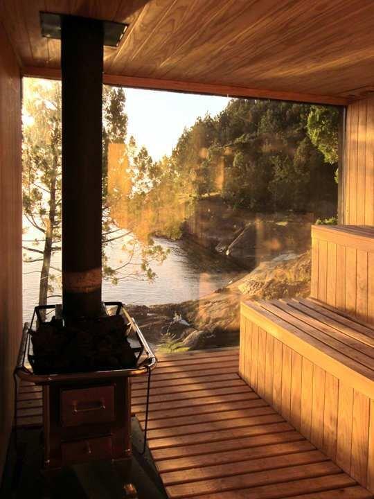 Sauna in Ranco - Small Structure - Panorama - Chile - Sauna - Humble Homes