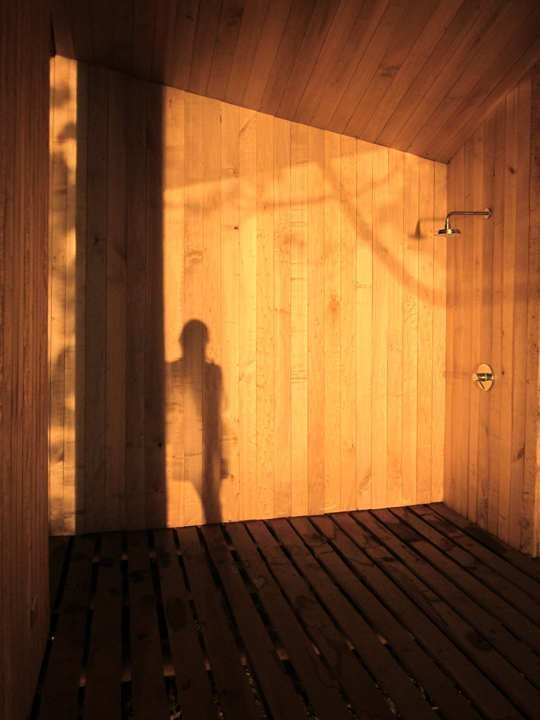 Sauna in Ranco - Small Structure - Panorama - Chile - Shower - Humble Homes