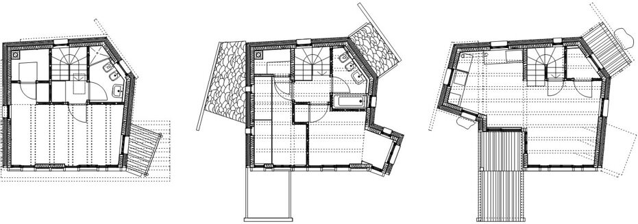 Solar House - Solar Powered Home - Studio Albori - Italy - Floor Plans - Humble Homes