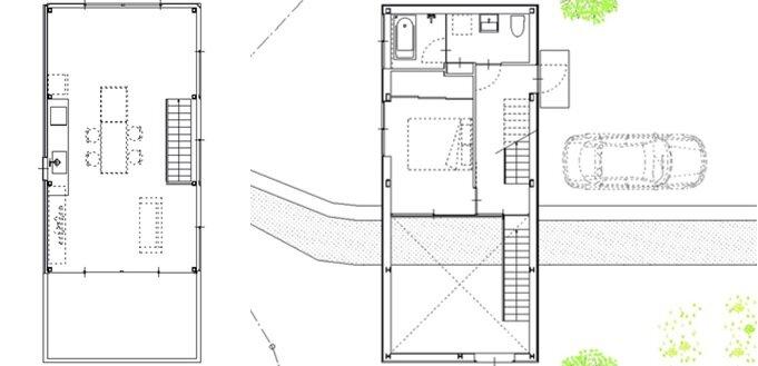House in Miyake - Japanese House - Hidetaka Nakahara Architects - Yoshio Ohno Architects - Hiroshima Japan - Floor Plan - Humble Homes
