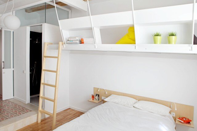 Micro Apartment - Miel Arquitectos and Studio P10 - Barcelona - Bedroom - Humble Homes