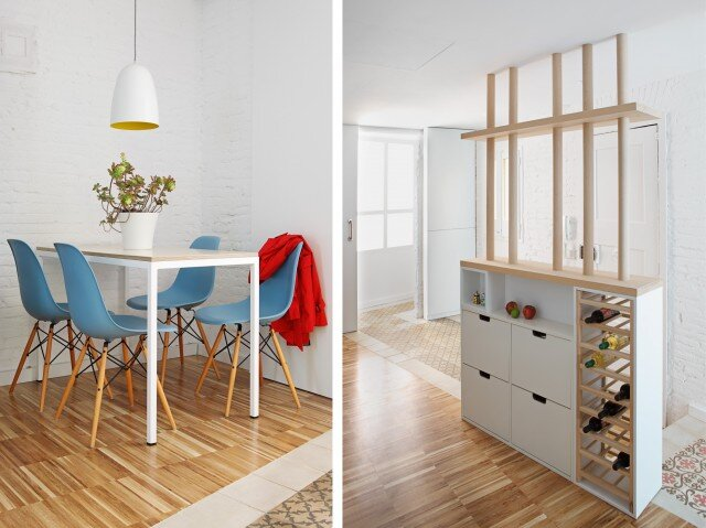 Micro Apartment - Miel Arquitectos and Studio P10 - Barcelona - Dining - Humble Homes