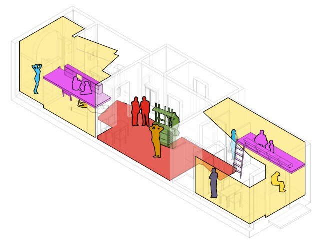 Micro Apartment - Miel Arquitectos and Studio P10 - Barcelona - Layout - Humble Homes