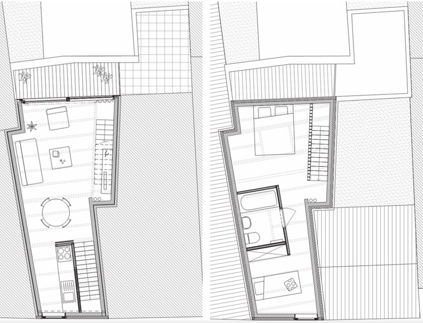 Small House - Gelukstraat Belgium - Dierendonck Blancke Architecten - Floor Plans - Humble Homes