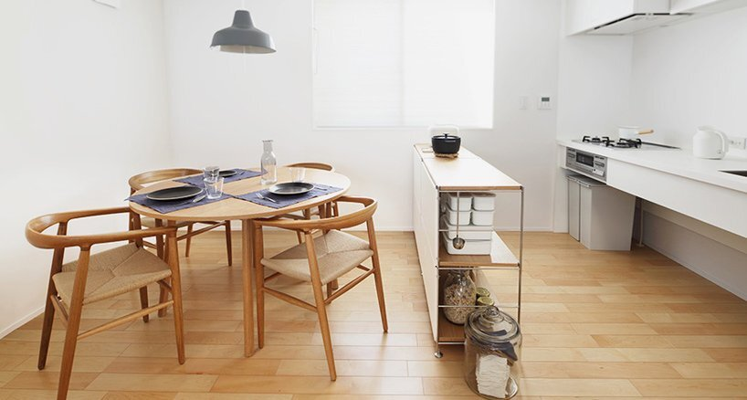 House of Vertical - Japanese House - Muji - Tokyo - Kitchen and Dining Area - Humble Homes