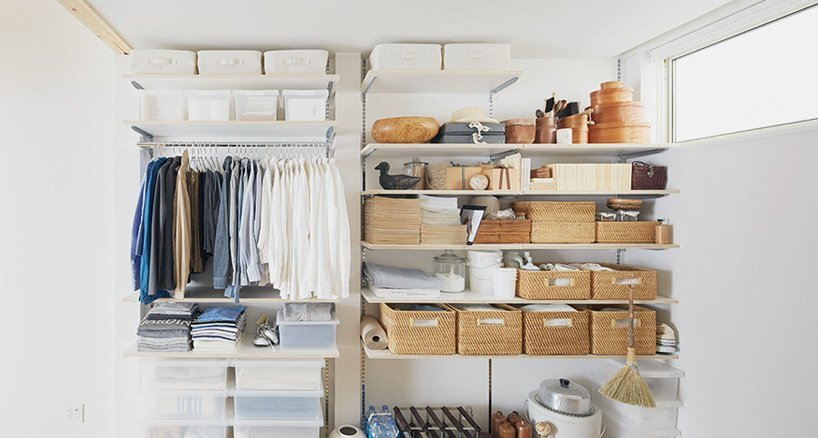 Muji 39 s small and simple house in tokyo for In house storage solutions