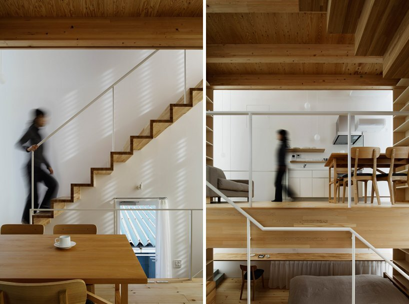 Takahashi Maki - Small House - Shiokami Daisuke - White Hut - Japan - Staircase - Humble Homes