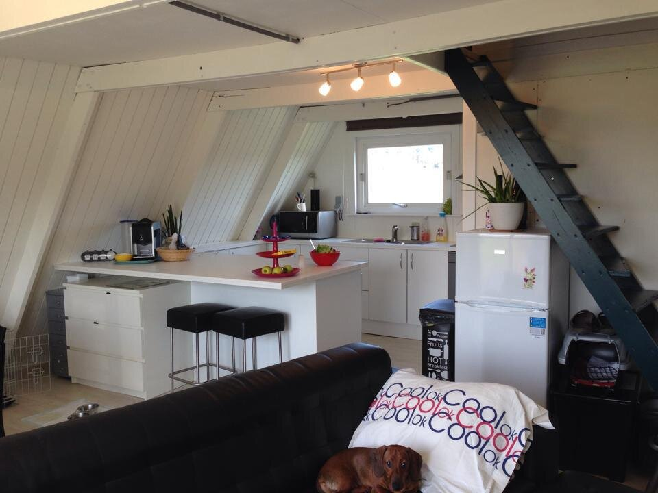 The Tipi - A Frame Cottage - Belgium - Kitchen and Dining Area - Humble Homes
