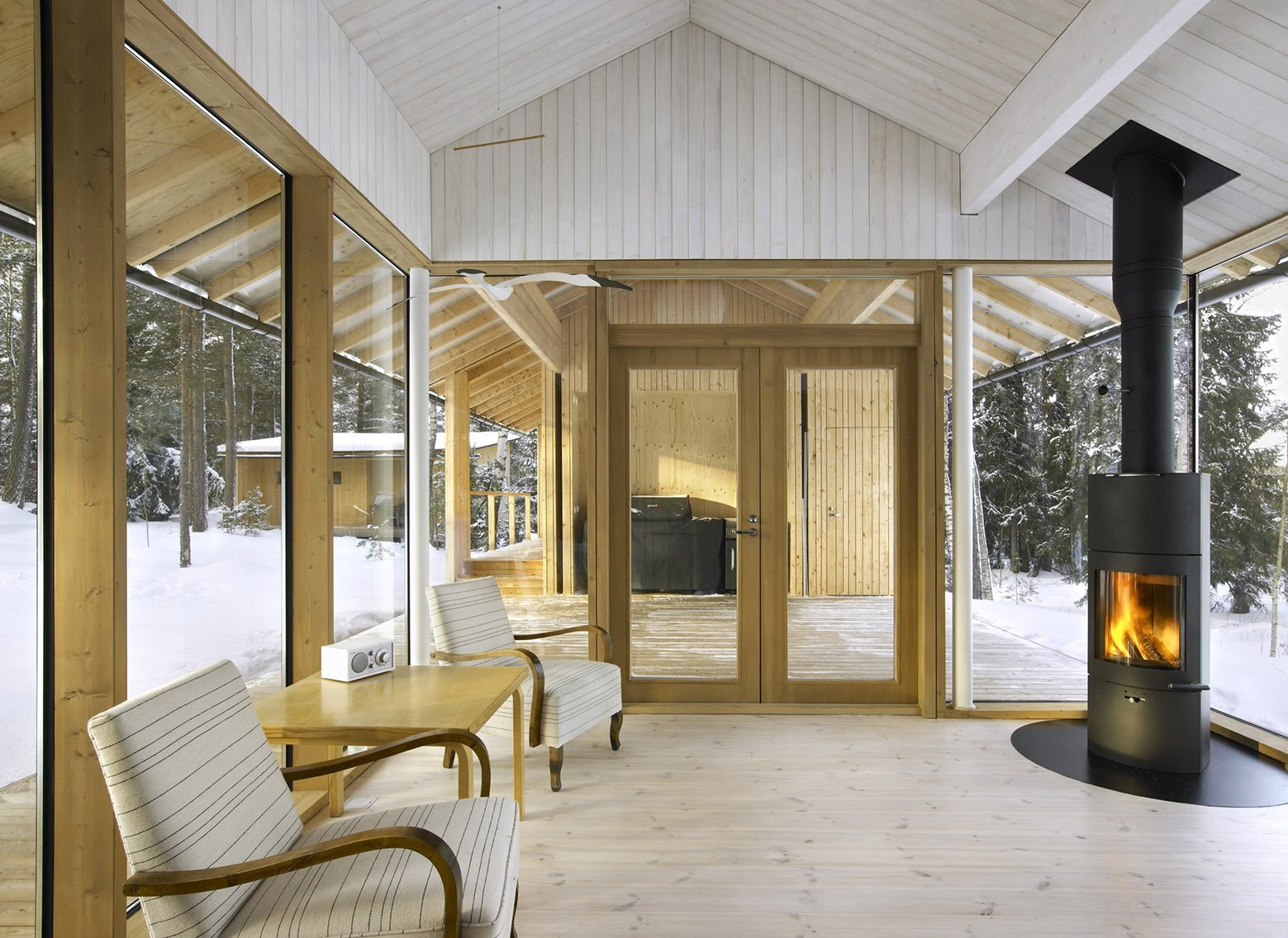 Villa Kallioniemi - Winter Cabin - K2S Architects - Finland - Living Area - Humble Homes