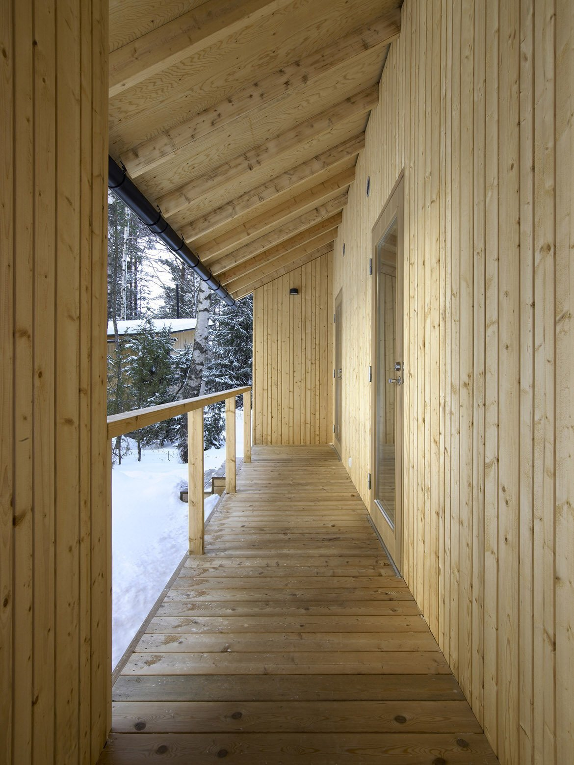 Villa Kallioniemi - Winter Cabin - K2S Architects - Finland - Porch - Humble Homes