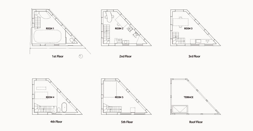 Yamate Street House - Unemori Architects - Tokyo - Floor Plan - Humble Homes