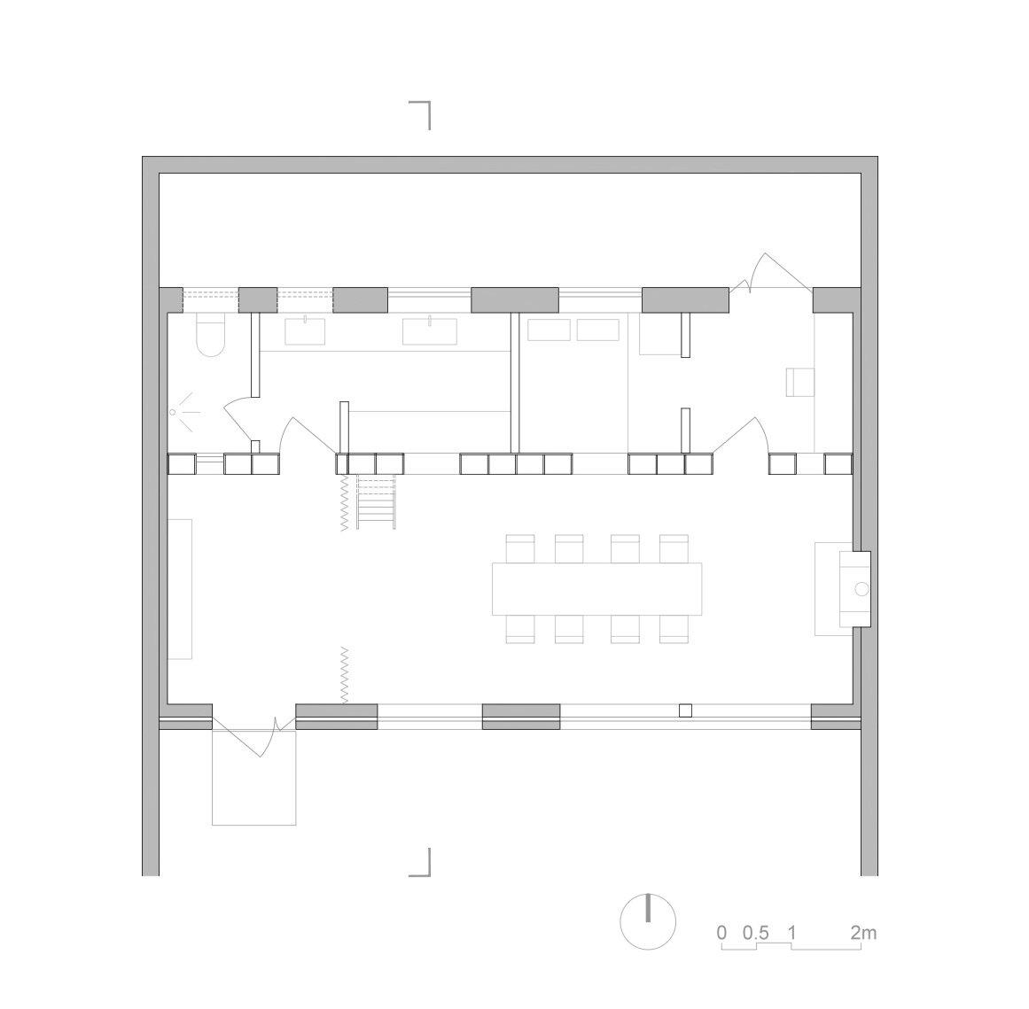 Ban House - Small House - Zhang Dongguang & Liu Wenjuan - Shaanxi China - Floor Plan - Humble Homes