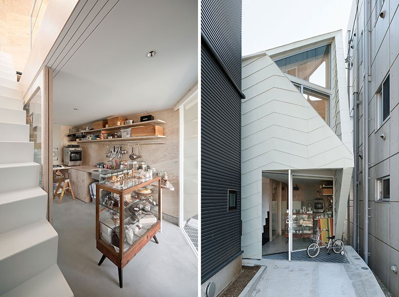 Bud House - Japanese House - Flat House - Tokyo - Shop & Entrance - Humble Homes