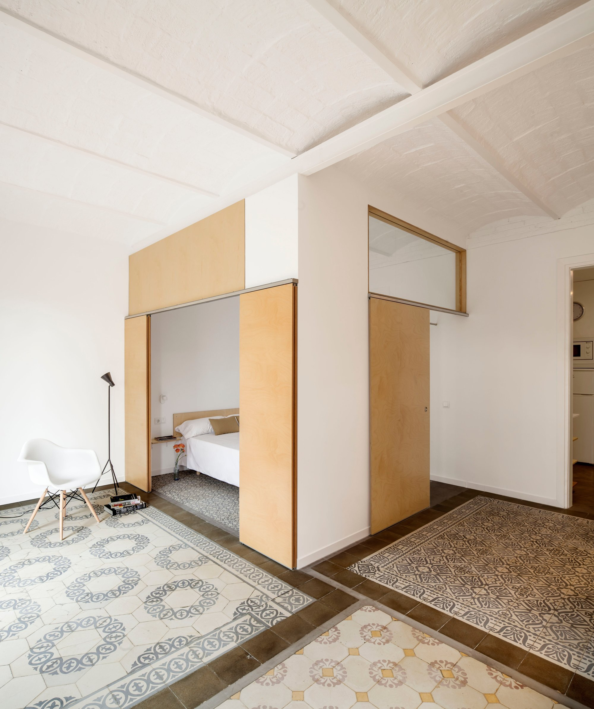 Eixample Apartment Renovation - Barcelona - Bedroom Nook - Humble Homes