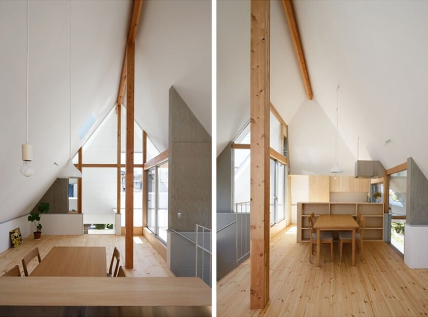 HouseAA - Small House - Moca Architects - Nara City - Living Area - Humble Homes