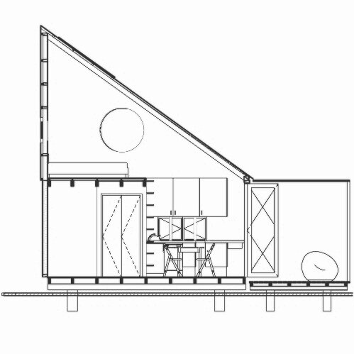 Tiny House - INDAWO - lifePOD - Collaborate000 - South Africa - Cross Section - Humble Homes