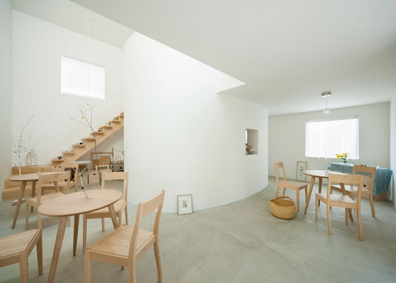 Oeuf - Multifunctional Home - Flat House - Tokyo - Cafe and Gallery - Humble Homes