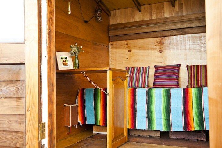 The Upcyclist - Tiny House - James Galletly - Australia - Fold-Up Desk - Humble Homes