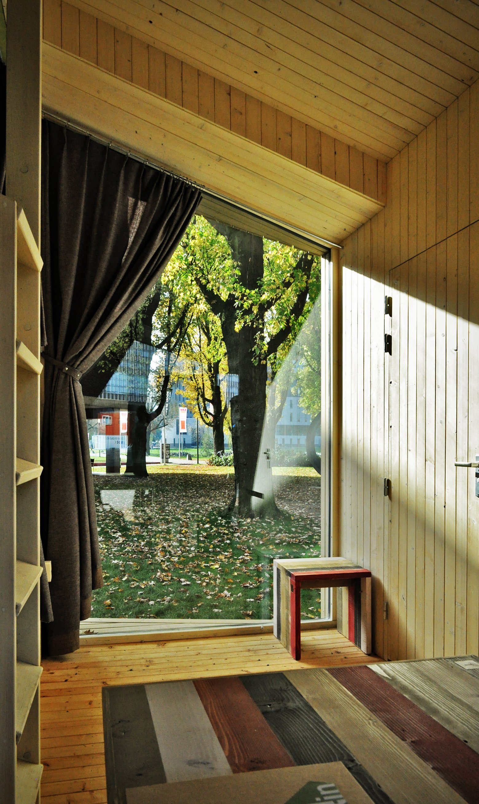 Treck-In Hickers Cabins - Small Cabin - MoodWorks Architecture - Kristel Hermans Architectuur - The Netherlands - Window View - Humble Homes