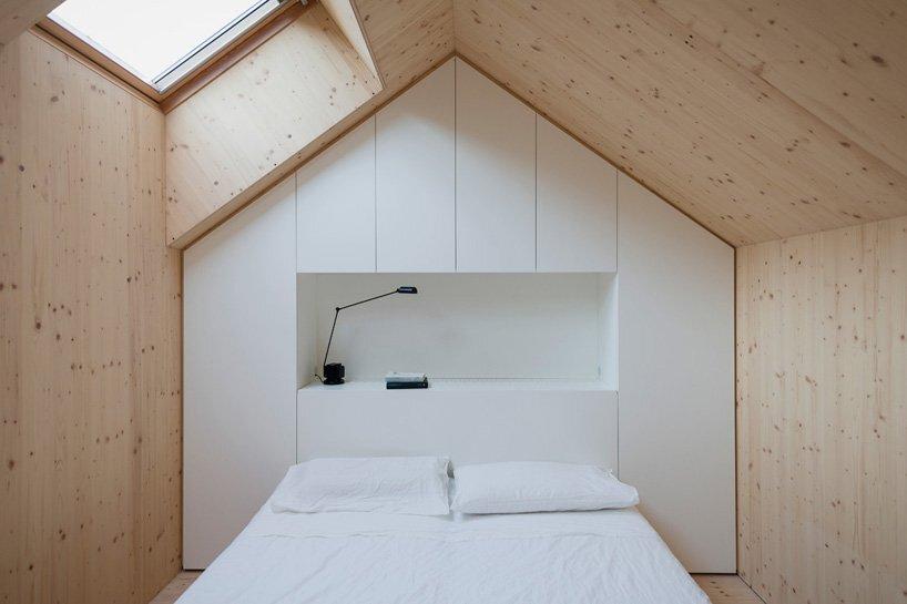 Compact Karst House - Small House - Dekleva Gregoric Arhitekti - Bedroom - Humble Homes