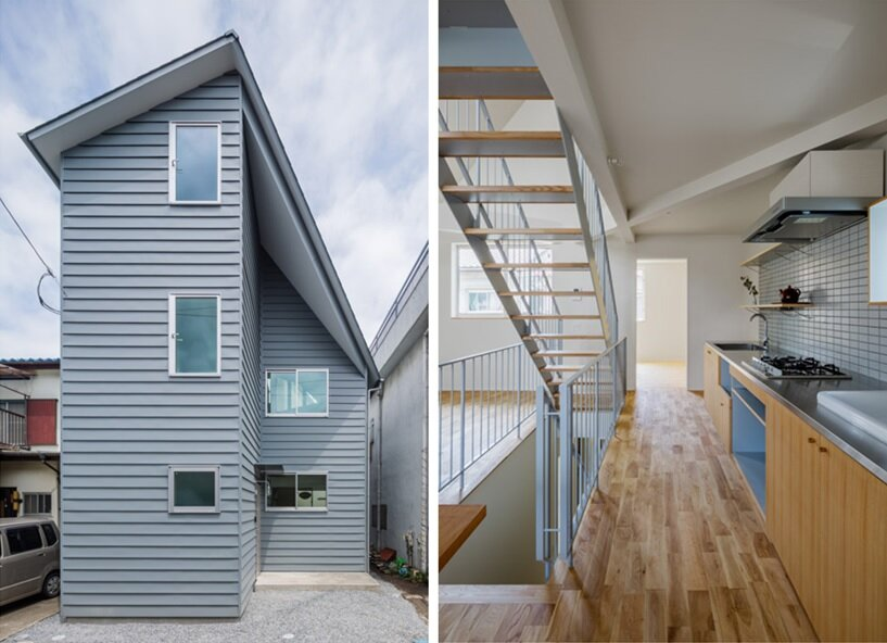 Contemporary japanese house is designed for two generations for Multi generational home builders