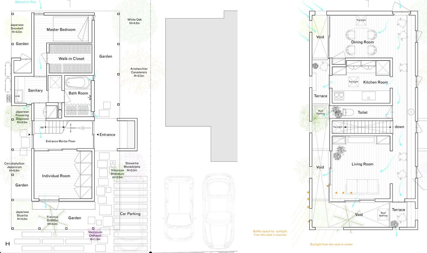 OH! House - Takeru Shoji Architects - Niigata - Floor Plan - Humble Homes