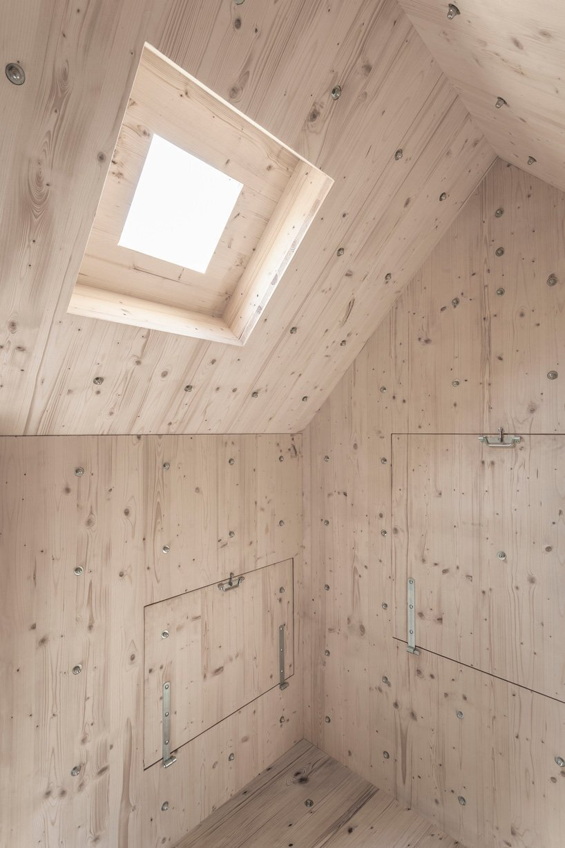 Stone-Shaped wooden cabin - bureau A - Swiss Alps - Skylight - Humble Homes