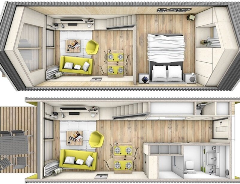 Strange Heijmans One An Affordable Tiny House From Amsterdam Largest Home Design Picture Inspirations Pitcheantrous