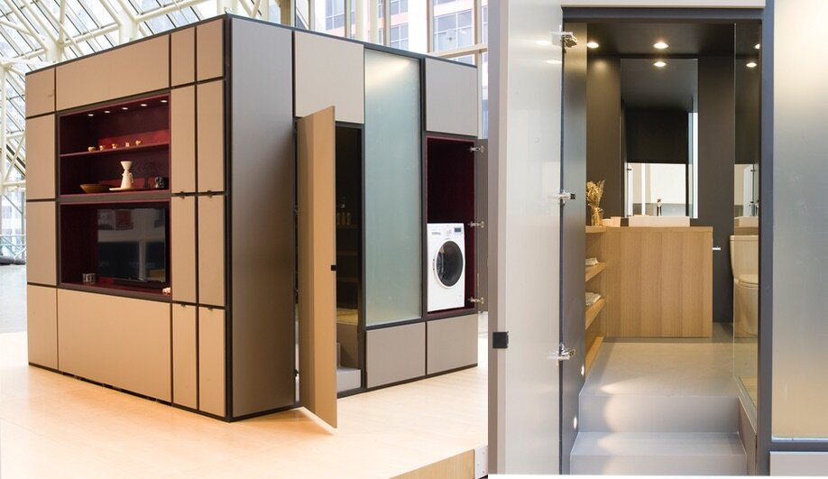 The cubitat a modular living unit in toronto for Prefab guest house with bathroom and kitchen