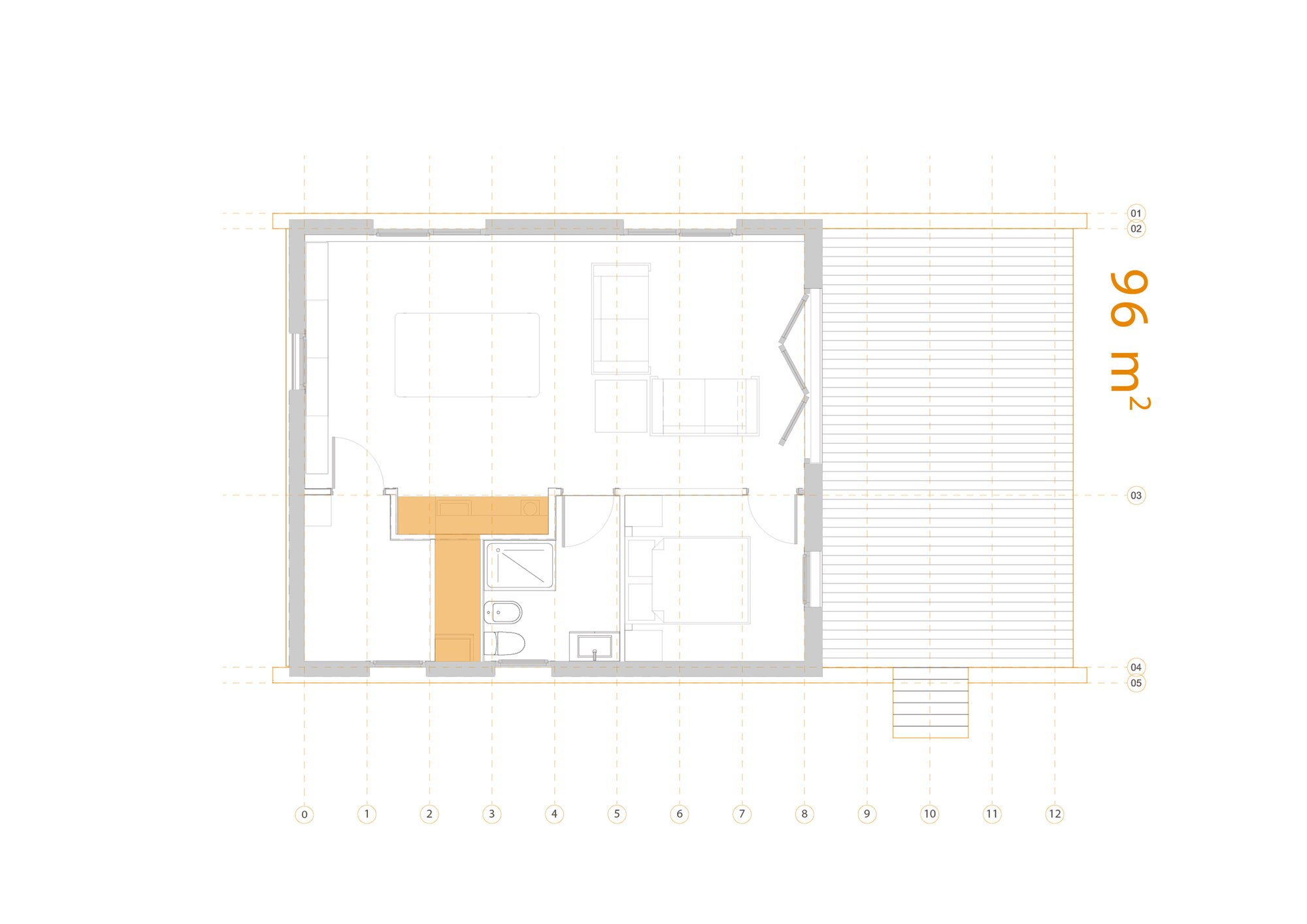 Ecological House 3.0 - NOEM - Small House - Castellón Spain - Floor Plan - Humble Homes