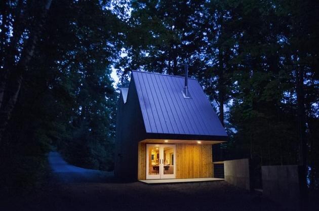 Lakeside Tiny House - Jeffery S.Poss Architect - George Lake - Exterior - Humble Homes
