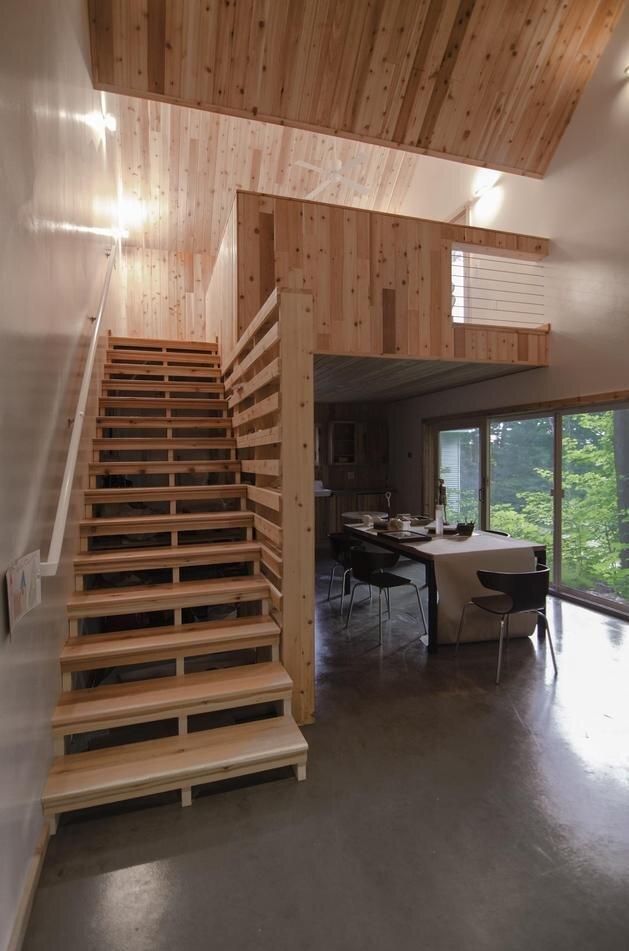 Lakeside Tiny House - Jeffery S.Poss Architect - George Lake - Lofted Bedrom - Humble Homes