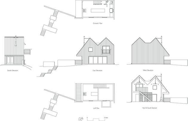 Lakeside Tiny House - Jeffery S.Poss Architect - George Lake - Plans - Humble Homes