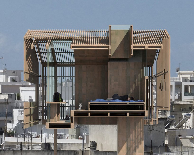 Rooftop Cabin - Deltarchi Panos Dragonas - Varvara Christopoulou - Athens - Section - Humble Homes