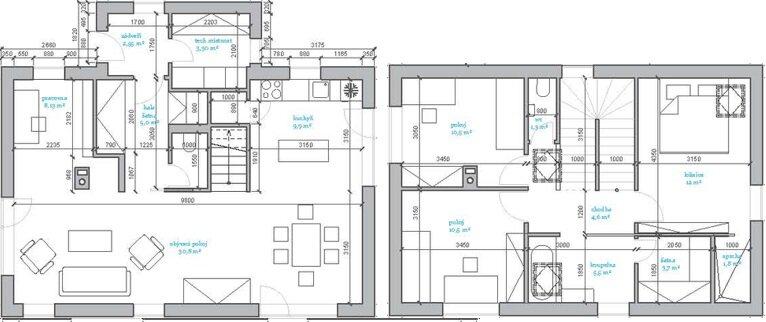 The Dog House - Small House - Mjölk architekti - Czech Republic - Floor Plans - Humble Homes