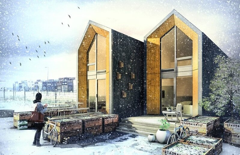 Tiny-House-Heijmans-ONE-Amsterdam-Exterior-Winter-Humble-Homes-Cropped