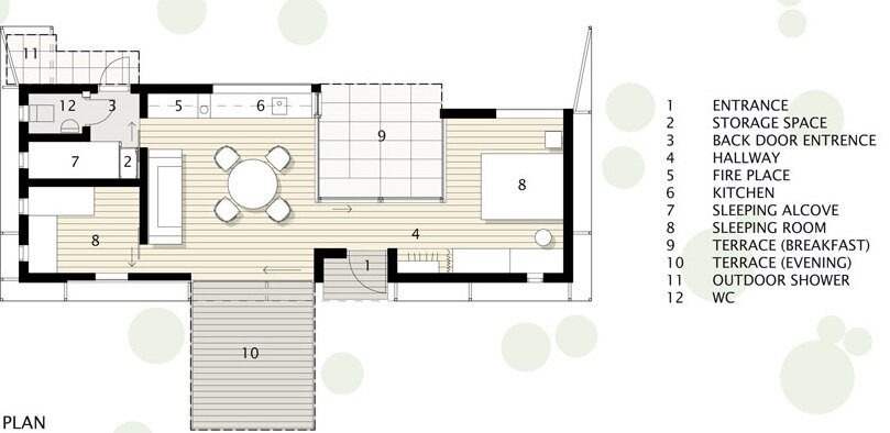 Juniper House - Small House - Murman Arkitekter - Sweden - Floor Plan - Humble Homes